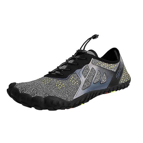 Saymany 2019 Zapatos de Agua de Secado rápido Unisex Piscina en la Playa Nadar Zapatos con cordón Zapatillas de Buceo Creek Zapato de natación: Amazon.es: ...