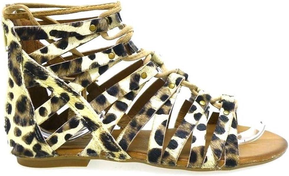 6254 Zapatos 40Amazon Inuovo es Leopardo Mujer Sandalias uPkiOXZ