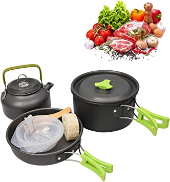 WM Kit de Utensilios de Cocina de Camping Juego de Olla para ...