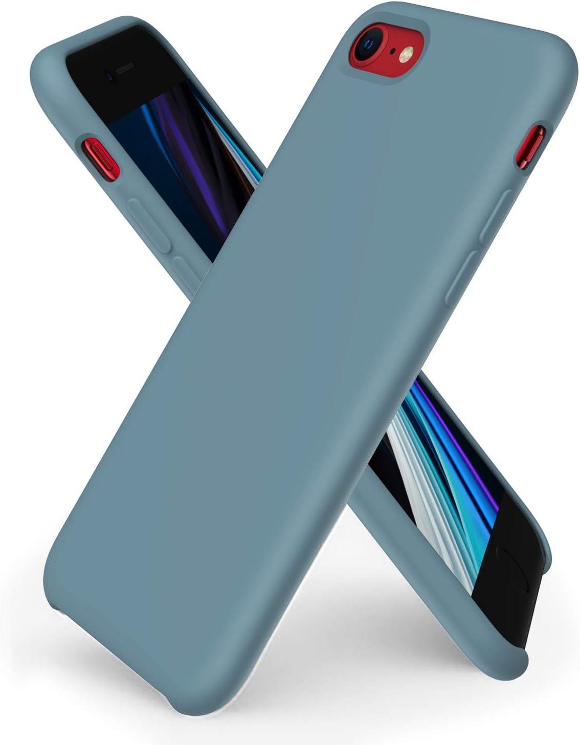 ORNARTO Liquid Silicone Case for iPhone SE(2020), iPhone 7/8 Slim Liquid Silicone Soft Gel Rubber Case Cover for iPhone SE(2020) 4.7 inch-Cactus
