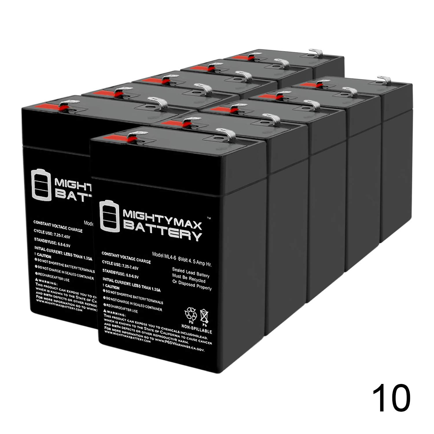 Mighty Max Battery 6V 4.5AH SLA Battery Replacement for Ritar RT645-10 Pack Brand Product by Mighty Max Battery