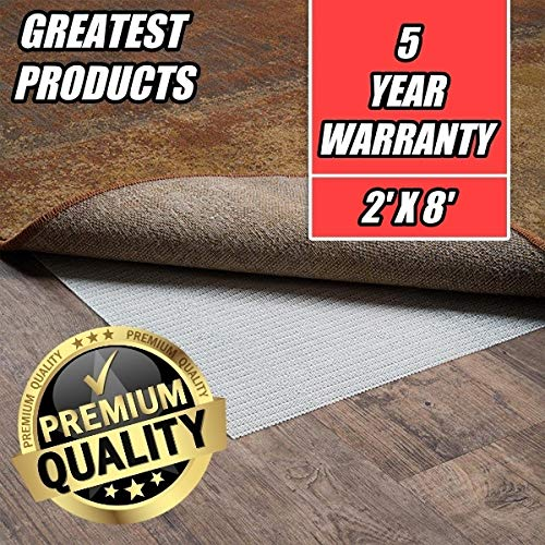Greatest Area Rug Pad Gripper Hard Surface Floors, Protection Pads, Also For Kitchen, Multipurpose, Extra Strong Grip! (2' X 8')