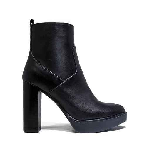 Impicci Negro es Complementos Alto Otoño Mujer Colección La 2017 Tacón Zapatos De Calf Invierno Amazon Trozo 2016 Del Nueva St897 Y 8Tq8wgr