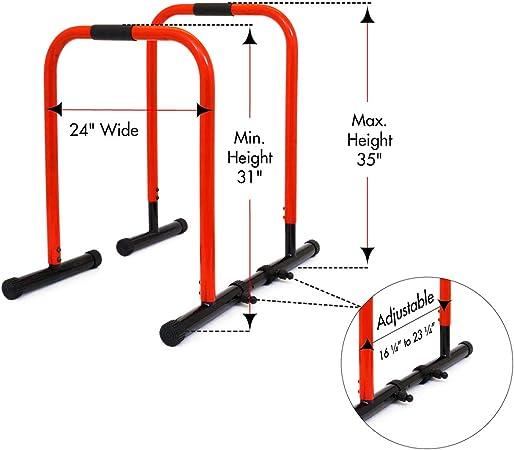 ProSource - Soporte de Punta, Barra de presión para tríceps, dominadas, Flexiones y L