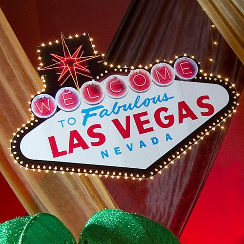 Welcome to Las Vegas Sign Casino Party Prop Standup Photo Booth Prop Background Backdrop Party Decoration Decor Scene Setter Cardboard Cutout ()