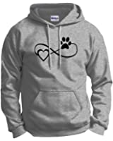 Dog Cat Lover Gift Infinite Love Infinity Symbol Hoodie Sweatshirt
