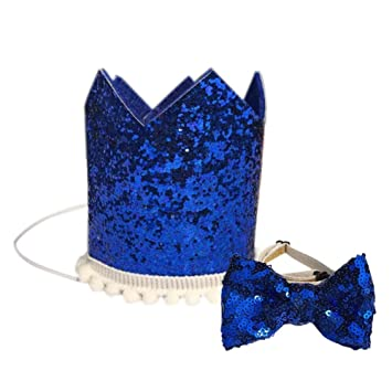 Amazon Midsummer Pet Party Supplies Dog Cat Birthday Crown Puppy Bow Tie Sequin Hat Baby