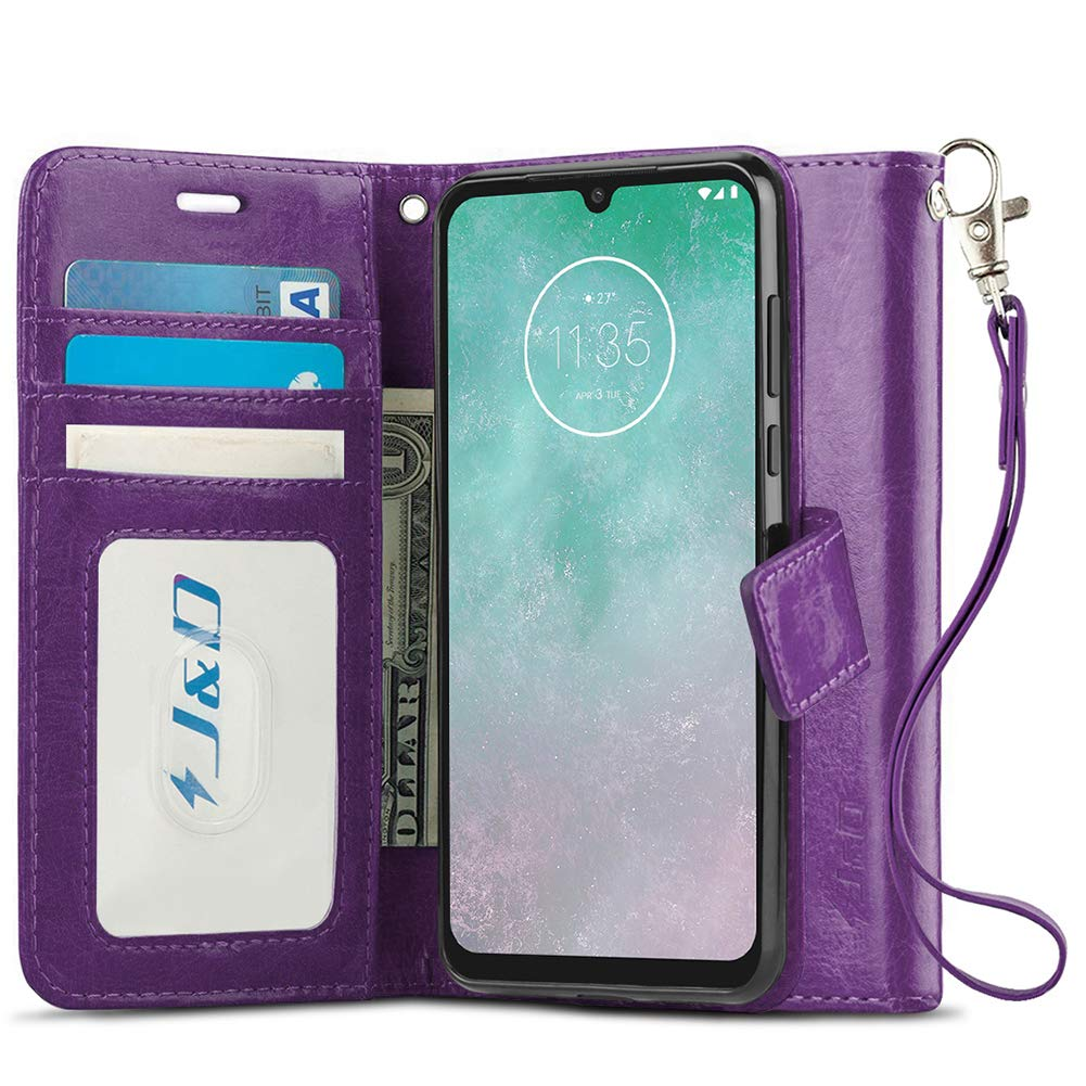 Funda Flip Cover Para Motorola G8 Plus, purpura
