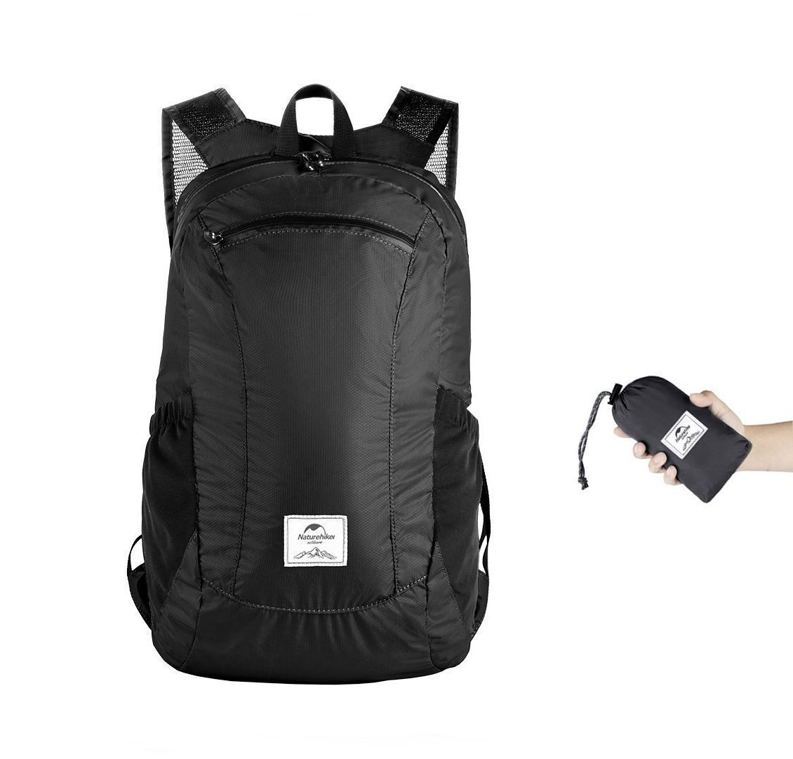 Naturehike 18L Ultralight Collapsible Backpack (Black)
