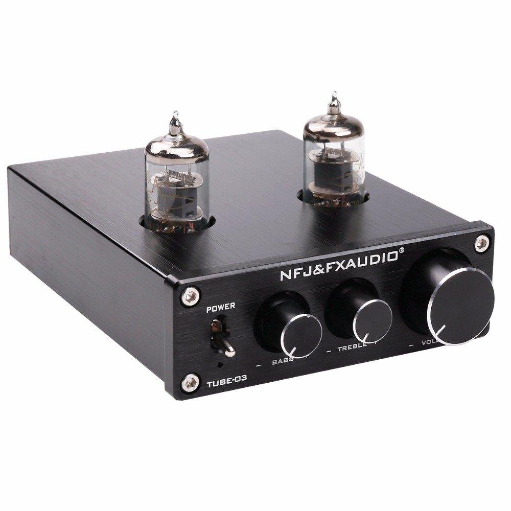 Fx Audio Tube 03 Hifi Treble Bass Buffer Headphone Schematic On Hi Fi Power Amplifier Preamplifier Black Home Theater
