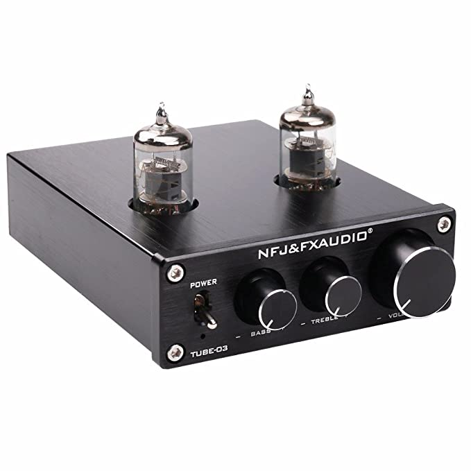 FX-Audio TUBE-03 HIFI Treble Bass Buffer 6J1 Tube Preamplifier Black