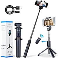 Apexel Selfie Stick Bluetooth Monopod with Foldable Tripod Stand and Remote Control Extendable Aluminum Alloy 360…