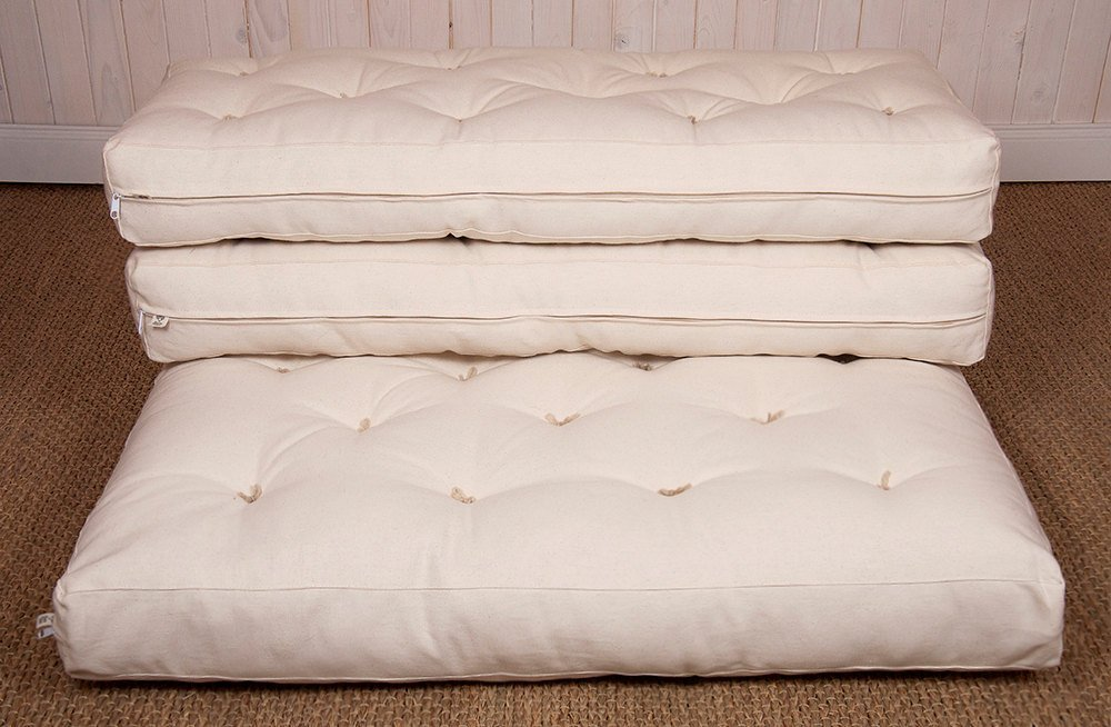 Wool-Filled Mattress for IKEA Extendable Beds / 5'' Thick / Hand Tufted Wool Mattress by Home Of Wool