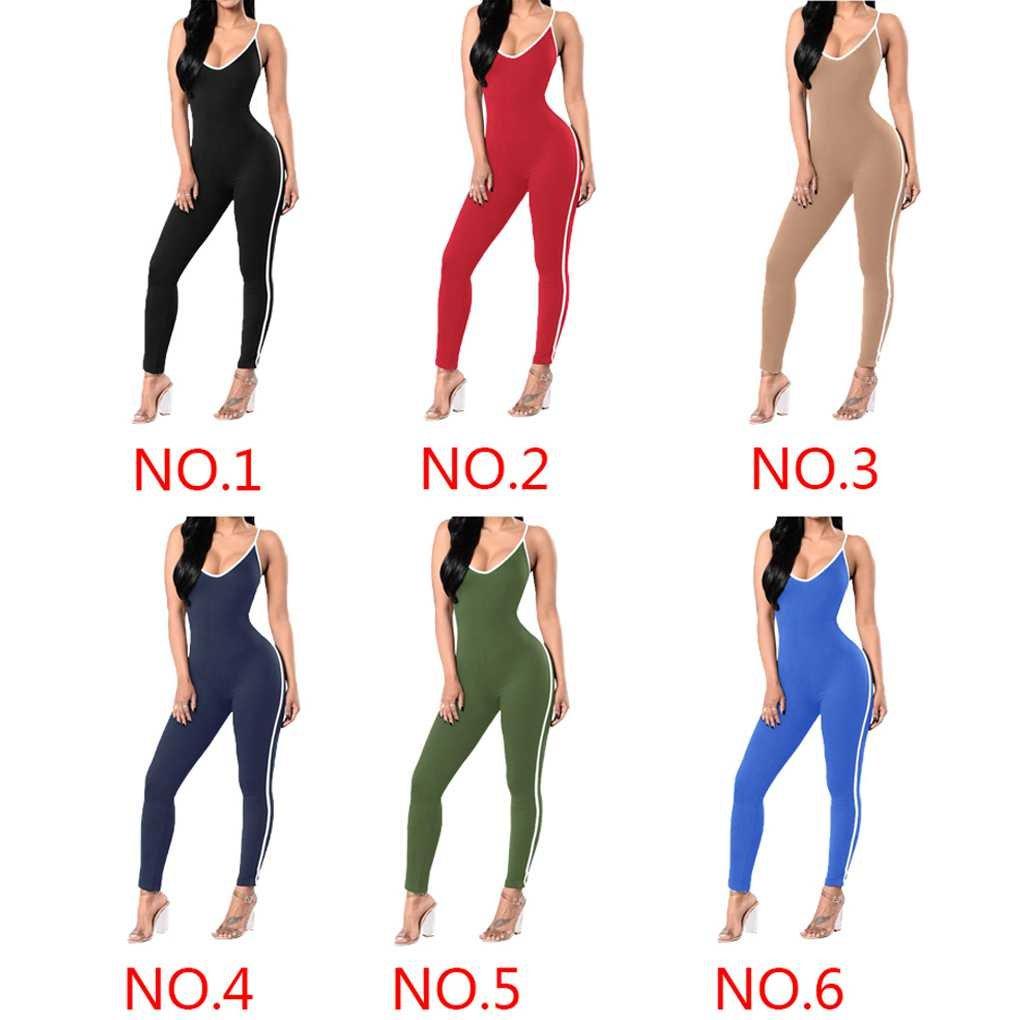 Masterein Femmes Moulante Couleur Pure Combinaison Justaucorps Legging  Barboteuses Sangle Yoga Sport Barboteuses sans Manches  Amazon.fr  Vêtements  et ... 4db8367d9fc