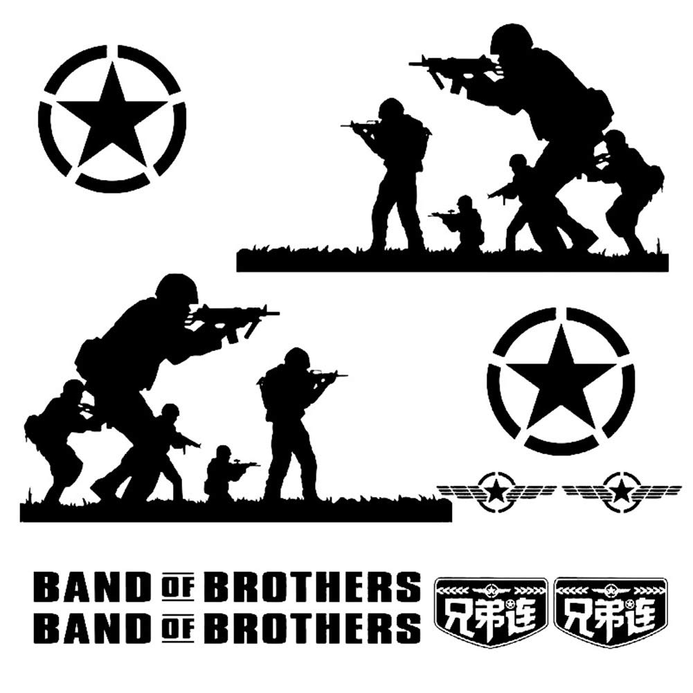 Sjadp06x car stickers soldier of brothers army style car vehicle door side decal sticker decoration amazon in car motorbike