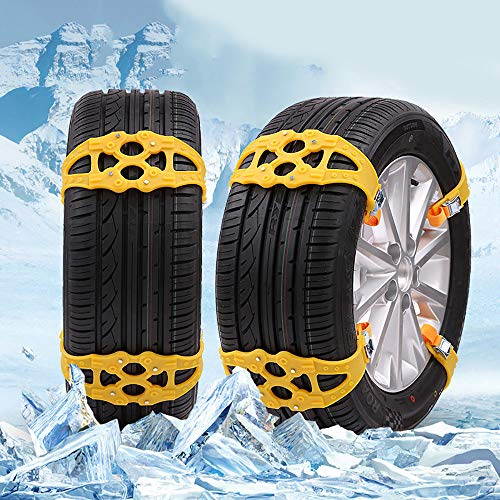 Glumes Car Snow Chain Non-slip Antiskid Anti-skidding in Winter, Traction Solution Pit Swamp for Trucks SUV Sedan Hatchback 1 Pcs (Best Snow Tires For Sedans)