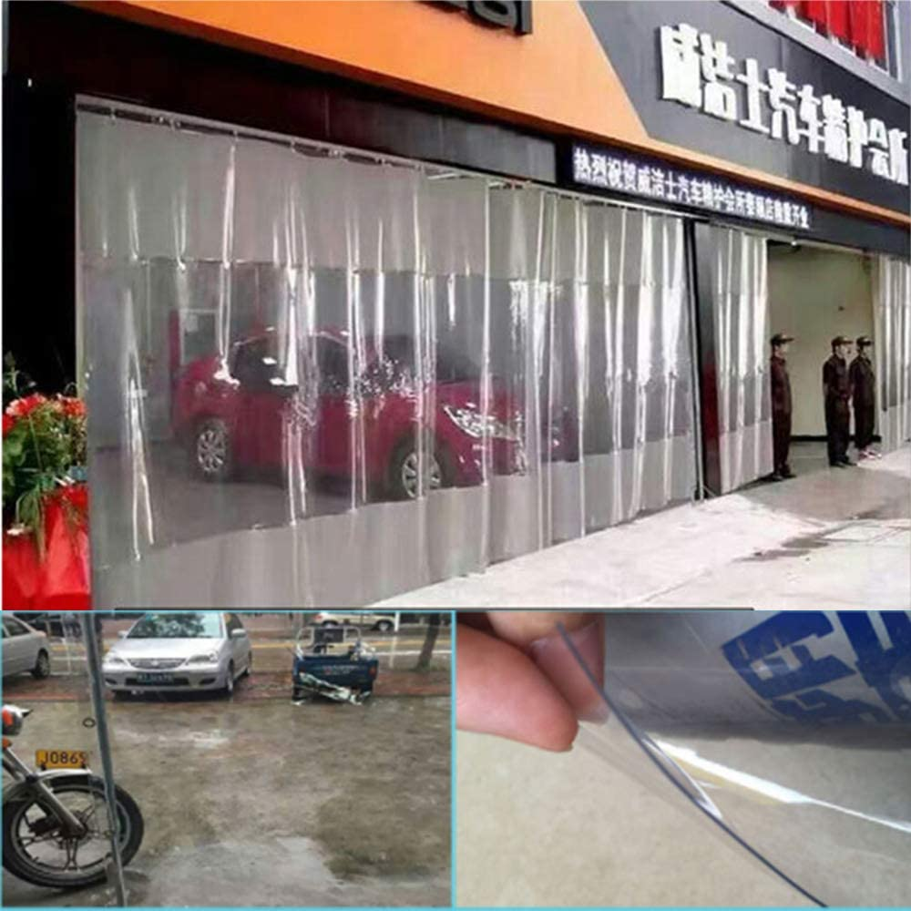 Jieqiong Lonas de Lona, PVC Grueso Transparente Lluvia Protector ...