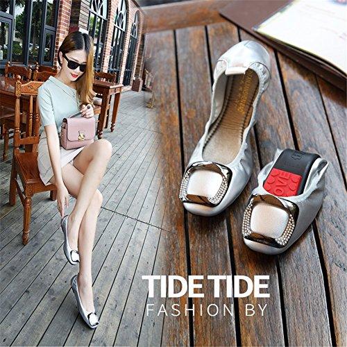 E HUAN pour Chaussures Femmes Plat Microfibre Fond Doux Mocassins Printemps Confort Été Mocassin Casual Doux Appartements Surface TgqqBnra