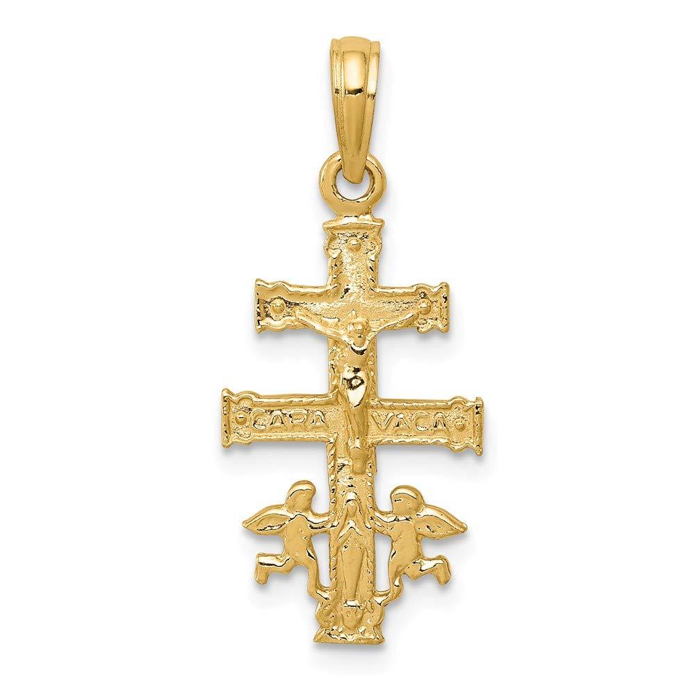14K Cara Vaca Crucifix Pendant