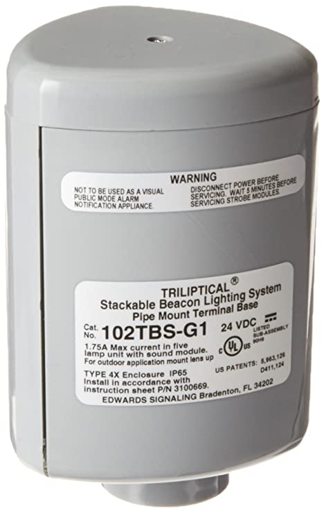 Edwards Signaling 102TBS-G1 Pipe Mount Terminal Base ...