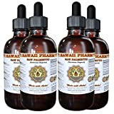 Saw Palmetto Liquid Extract, Organic Saw Palmetto (Serenoa Repens) Tincture, Herbal Supplement, Hawaii Pharm, Made in USA, 4x4 fl.oz