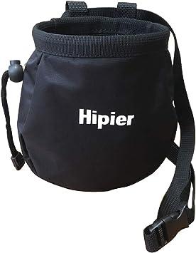 Hipier Bolsa de magnesio Escalada para Boulder Levantamiento de Pesas Alpinismo Chalk Bag Climbing con Cremallera, Correa de Cintura