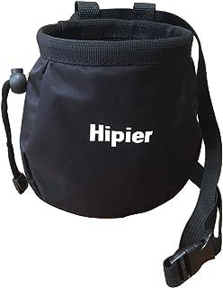 Sac à magnésie pour l'escalade de Gymnastique haltérophile Sac de Craie avec Poche arrière zippée et Ceinture Ajustable
