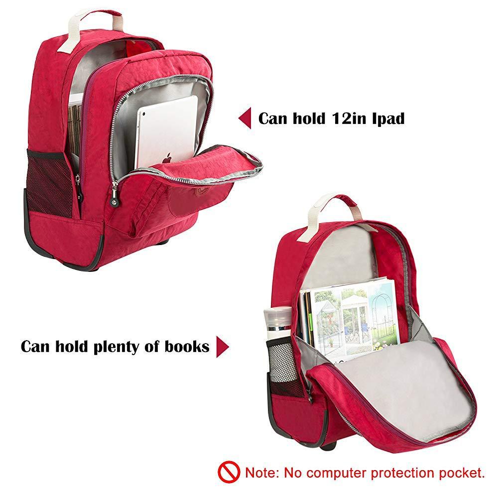Amazon.com: C-Xka Rolling School Bag, Wheeled Laptop Backpack College Backpack, Business Backpack, Travel Backpack Wheeled Rolling Decompression Backpack ...