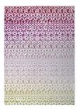 KAVKA Designs Backyard Lights Indoor-Outdoor Floor Mat, (Pink/Purple/Green) - , Size: 96x120x0.2 - (PLUAVC083FM810)