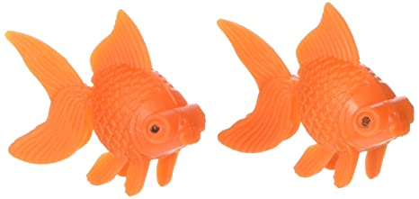 uxcell - Carpa Dorada de plástico Artificial para decoración de acuarios, 2 Unidades, con