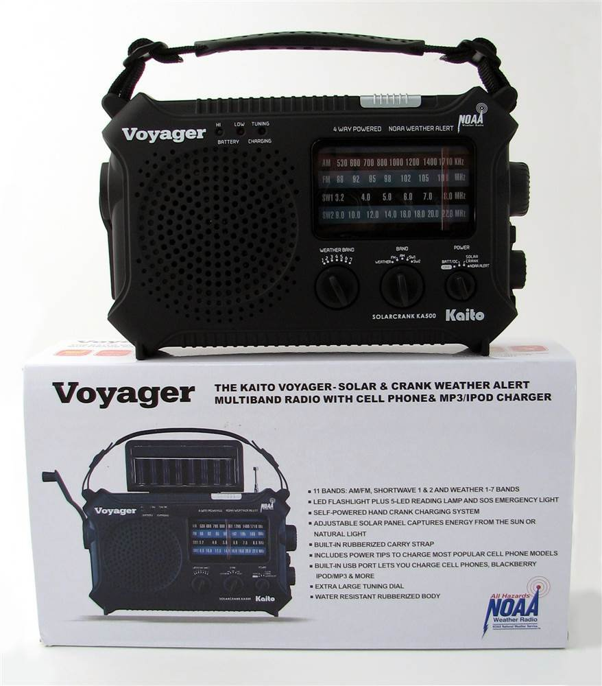 Voyager Dynamo Radio w Light by Mayday Industries