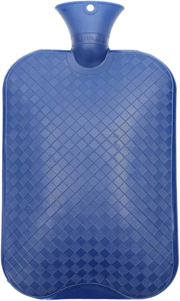 Classic Rubber Hot Water Bottle 3L Great for Pain Relief, Hot and Cold Therapy,Natural Rubber BPA Free- Durable Hot Water Bottle (Color : Dark Blue)