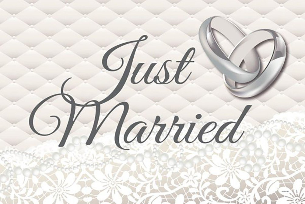Just Married Car Flags Creative Collection FO-21370