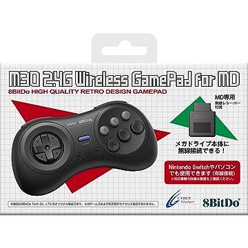 Amazon | 8BitDo M30 2.4G Wireless GamePad for MD ブラック 【メガドライブ/SWITCH(有線)用コントローラー】 - Switch | ゲーム