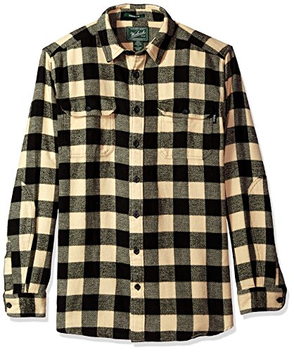 Flannel Black Oxbow Da Woolrich Bottoni white Long Shirt Uomo Bend Maglia Con vwTvxgqI