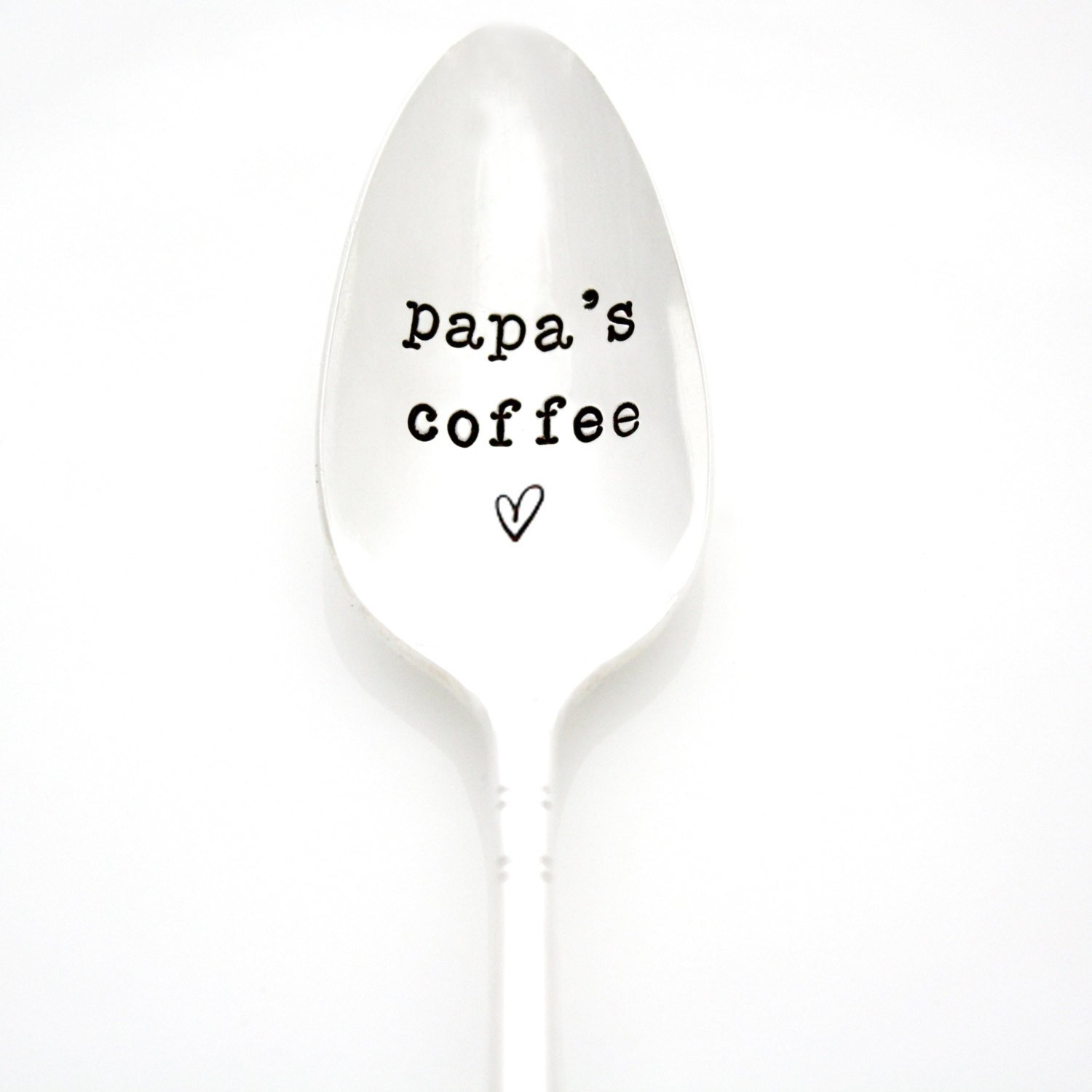 Part of the Martha Stewart American Made Market. Papas Coffee Vintage Hand Stamped Coffee Spoon for him