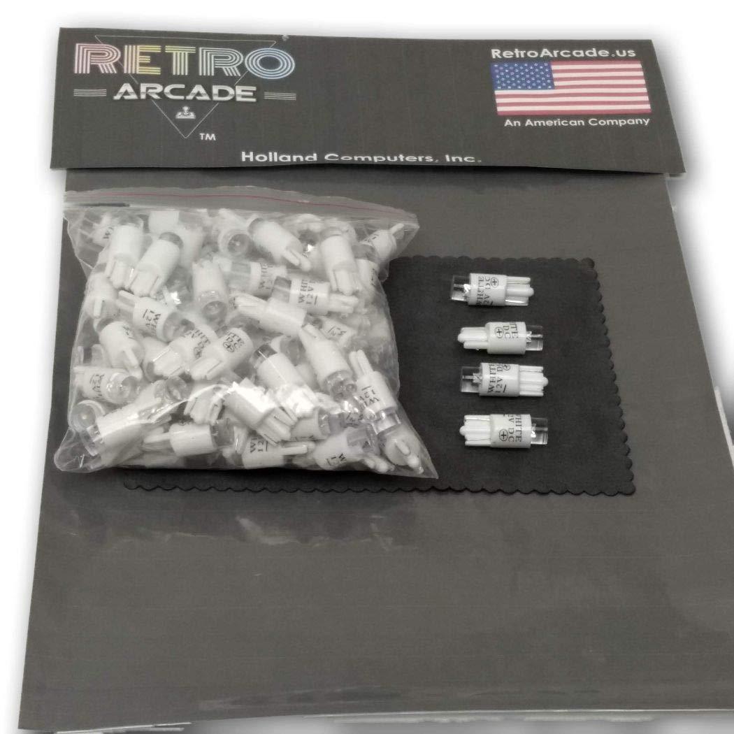 by RetroArcade.us Arcade Game Illuminated Push button White