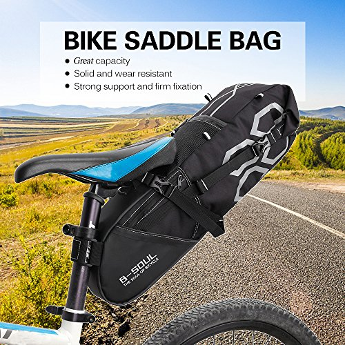 Walmeck- 10L Bike Bag Bike Rear Seat Bag Bicycle Tool Storage Pouch Cycling Saddle Tail Packs Bike Storage Bag