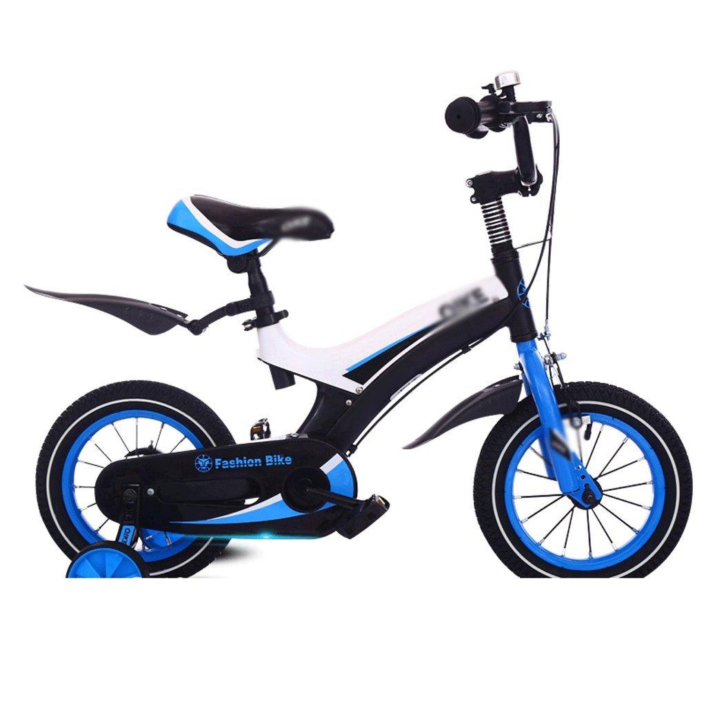DUWEN 子供用 自転車 子供用 マウンテンバイク 補助ホイール付き 男女用 12インチ 14インチ 16インチ ダークブルー B07F6GK5MT 14 inch