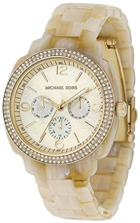 08d61b050d3 Image Unavailable. Image not available for. Color  Michael Kors Runway  Multifunction Acrylic Ladies Watch MK5087