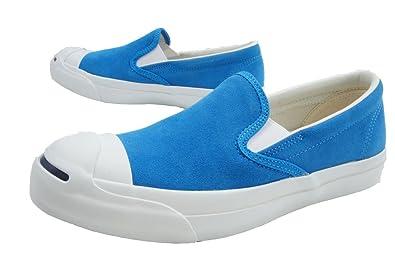 スウェード コンバース スリップオン レディース JACK PURCELL 【10%OFFセール】 (ホワイト ブルー) スニーカー CONVERSE ロウカット ローカット スリッポン メンズ ジャックパーセル