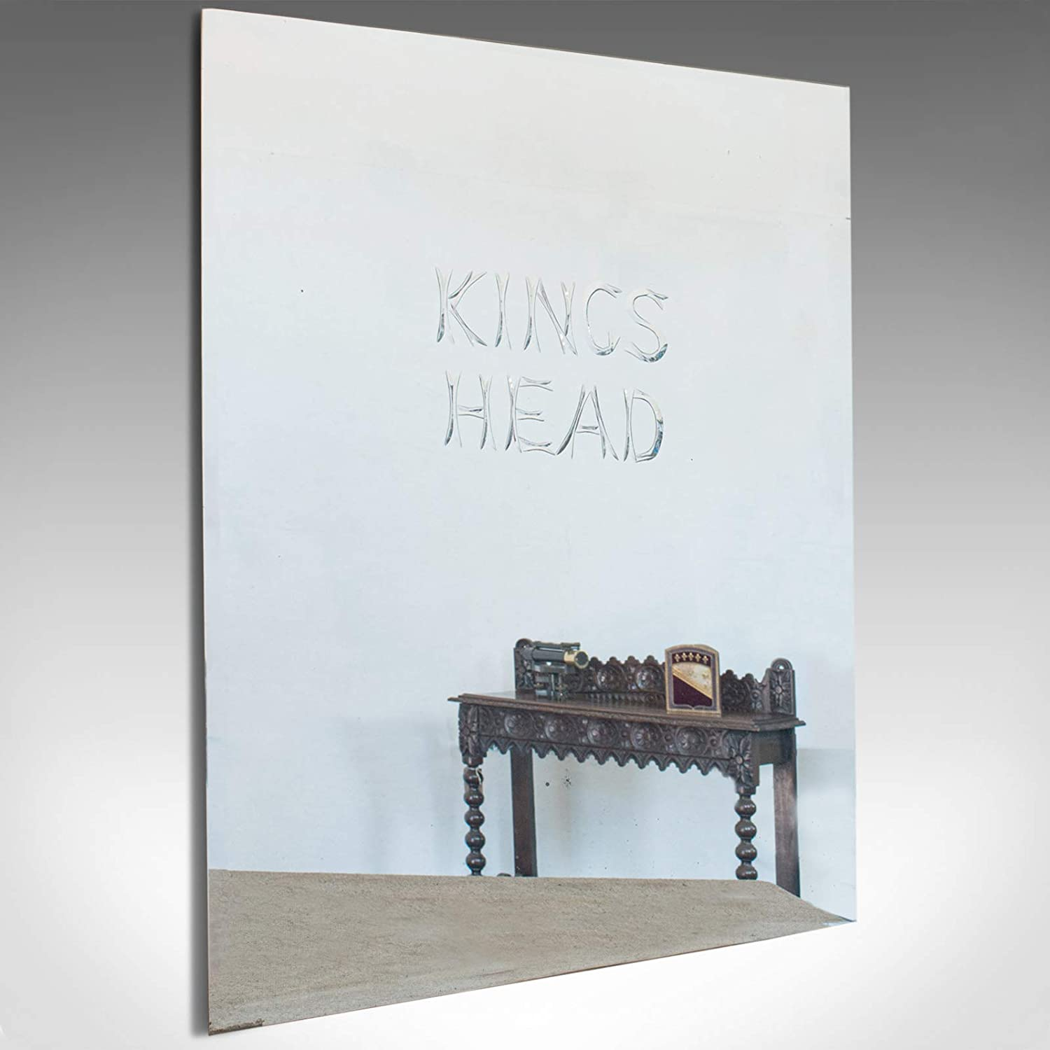 Large Vintage Etched Mirror English Glass Kings Head Public House 1970 Amazon Co Uk Kitchen Home