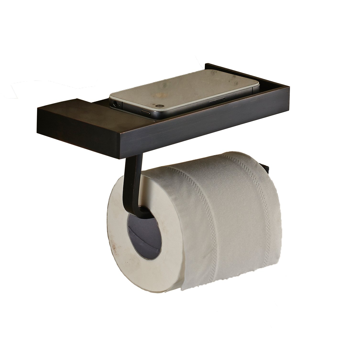 Rozin Multifunction Toilet Paper Holder with Storage Holder Function Oil Rubbed Bronze