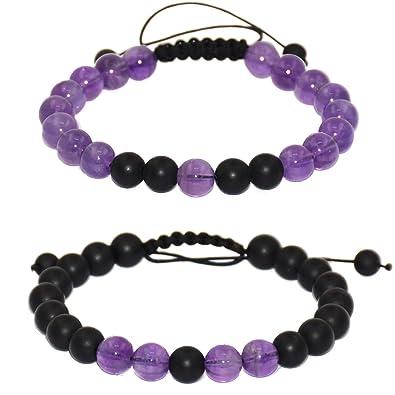 1534ed301308c Massive Beads Friendship Relationship Couples Distance Adjustable Round  Beads Bracelet Gems& Jewelry Box