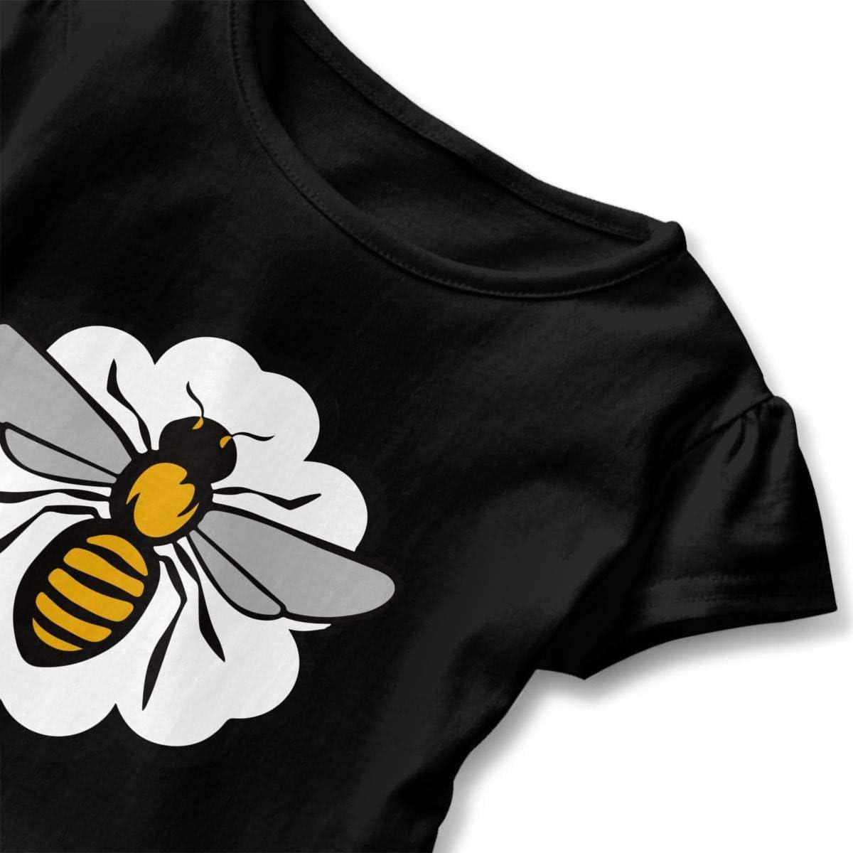26NSHIRT Honeybee Kids Baby Girls Short Sleeve Peplum Tee