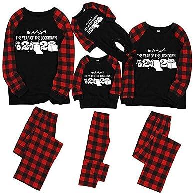 N / A Conjunto de Pijamas Familiares Camiseta 2020 Pijama ...
