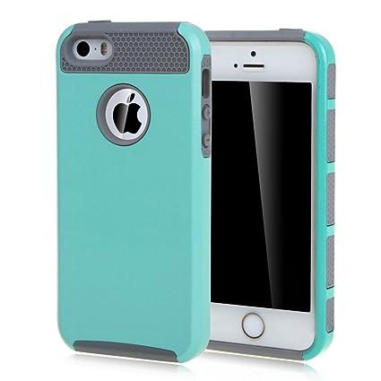 Amazon.com: Para iPhone 5S, se, ivencase Simple 2 en 1 ...