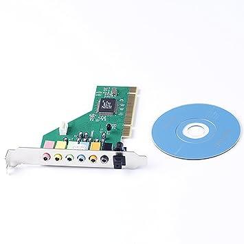 GAOHOU PCI 7.1 Tarjeta Sonido Audio Canal 3D Estéreo Interno Computadora Escritorio PC a Través