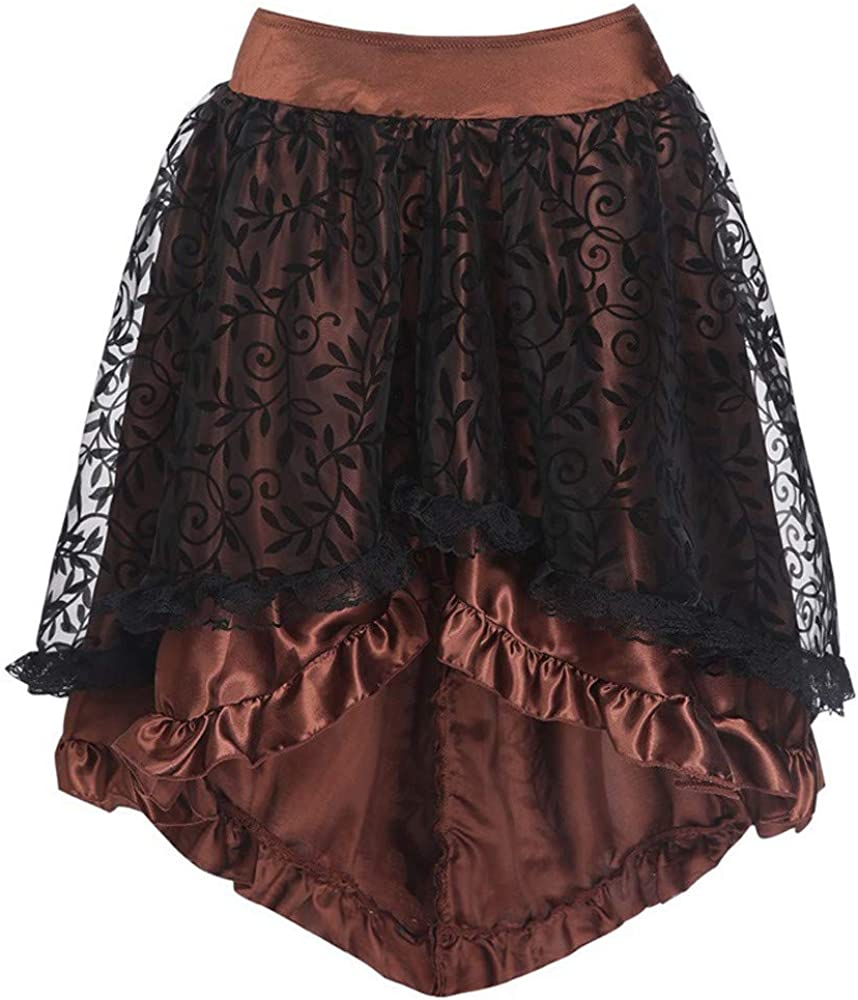 FAMILIZO Faldas Largas Y Elegantes Faldas Cortas Mujer Verano Faldas Mujer Invierno Primavera Vestidos Mujer Sexy Gótico Floral Encaje De Alta Cintura Gótico Novedad Corsé Alta Más Falda