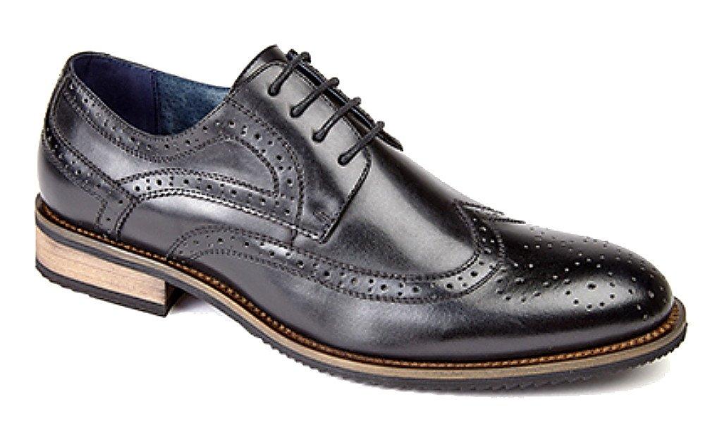 Tribangke Zapatos Planos con Cordones para hombre, Negro, EU 44